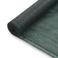 vidaXL Rede de ténis PEAD 1x50 m verde