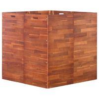 vidaXL Canteiro elevado de jardim 100x100x100 cm madeira de acácia