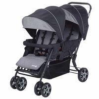 Safety 1st Carrinho de bebé duplo Teamy preto 1151666000