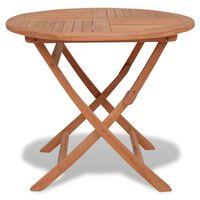 vidaXL Mesa de jardim dobrável 85x76 cm madeira teca maciça