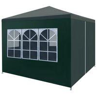 vidaXL Tenda para festas 3x3 m verde
