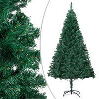vidaXL Árvore de Natal artificial com ramos grossos 180 cm PVC verde