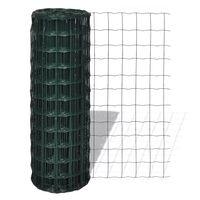 vidaXL Cerca 25 x 1,5 m aço verde