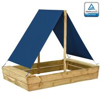 vidaXL Caixa de areia c/ telhado 160x100x133 cm pinho impregnado