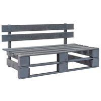 vidaXL Banco de paletes para jardim madeira cinzento