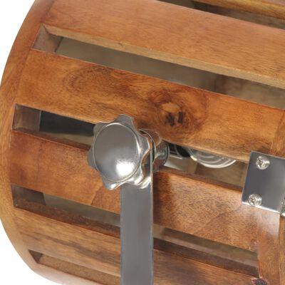 vidaXL Candeeiro de chão tripé 186 cm madeira de mangueira maciça