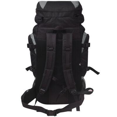 vidaXL Mochila de caminhada XXL 75 L preto e cinzento