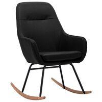 vidaXL Cadeira de baloiço tecido preto