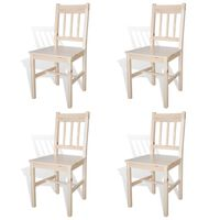 vidaXL Cadeiras de jantar 4 pcs madeira de pinho