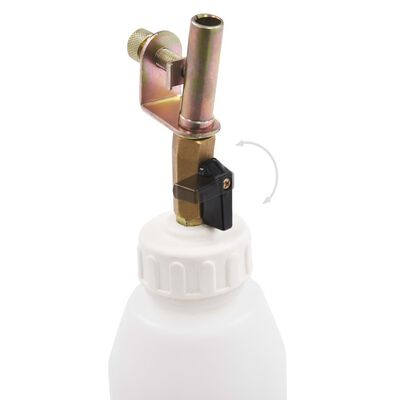 vidaXL Bomba extratora/purgadora travões pneum. frasco de encher 3,5 L
