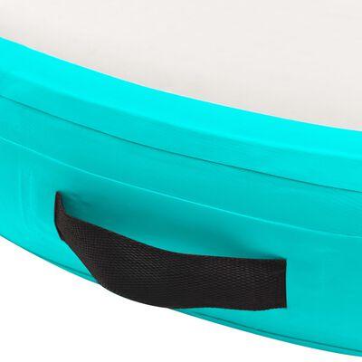 vidaXL Tapete de ginástica insuflável com bomba 100x100x10cm PVC verde