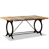 vidaXL Mesa de jantar madeira reciclada maciça 180 cm