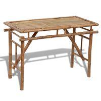 vidaXL Mesa de jardim dobrável 120x50x77 cm bambu