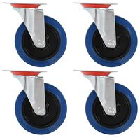 vidaXL 24 pcs rodas giratórias 125 mm