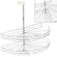vidaXL Unidade cestos p/ cozinha 2 pcs 180 graus 85x44x80 cm