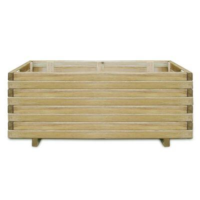 vidaXL Vaso/floreira retangular 100x50x40 cm madeira