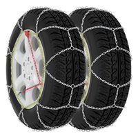 vidaXL Correntes de neve para pneus de carros 2 pcs 9 mm KN80