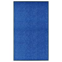 vidaXL Tapete de porta lavável 90x150 cm azul