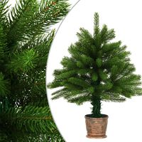 vidaXL Árvore de Natal artificial agulhas realistas 65 cm verde