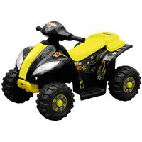 Quadriciclo Elétrico para Crianças Amarelo e Preto