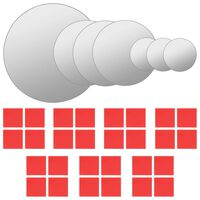 vidaXL Conjunto de espelhos de parede redondos 7 pcs vidro