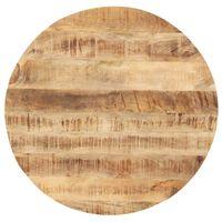 vidaXL Tampo de mesa redondo madeira mangueira maciça 25-27 mm 70 cm