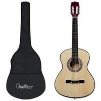 """vidaXL Guitarra clássica para iniciantes com saco 3/4 36"""""""