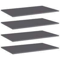 vidaXL Prateleiras para estante 4 pcs 80x50x1,5cm contraplacado cinza