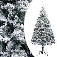 vidaXL Árvore de Natal artificial com neve 210 cm PVC verde