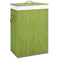 vidaXL Cesto para roupa suja 72 L bambu verde