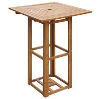 vidaXL Mesa de bistrô 75x75x110 cm madeira de acácia sólida