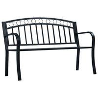 vidaXL Banco jardim 125 cm aço preto