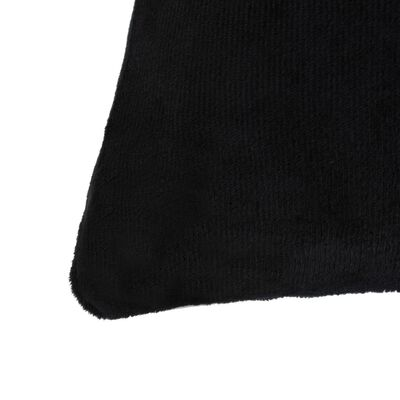 vidaXL Capa de almofada 4 pcs veludo 80x80 cm preto