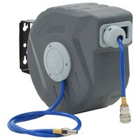 "vidaXL Enrolador automático de mangueira para ar comprimido 1/4"" 12 m"