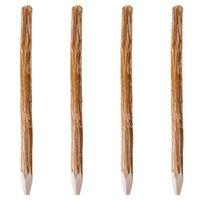 vidaXL Postes/estacas cerca 4 pcs 150 cm madeira de aveleira