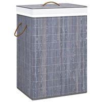 vidaXL Cesto para roupa suja 72 L bambu cinzento