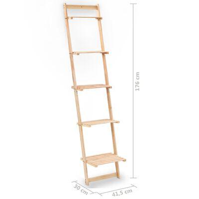 vidaXL Estante escada de parede madeira de cedro 41,5x30x176 cm