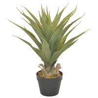 vidaXL Planta yucca artificial com vaso 60 cm verde