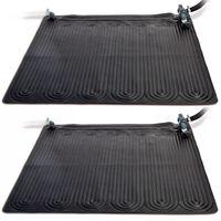 Intex Tapetes de aquecimento solar 2 pcs PVC 1,2x1,2 m preto 28685