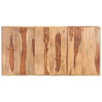 vidaXL Tampo de mesa madeira de sheesham maciça 16 mm 160x80 cm