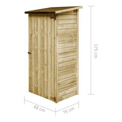vidaXL Abrigo p/ ferramentas jardinagem 88x76x175cm pinho impregnado