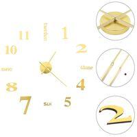 vidaXL Relógio de parede 3D com design moderno 100 cm XXL dourado