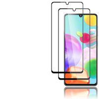 Protetor de tela de 2 pacotes para Samsung Galaxy A41 preto