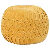 vidaXL Pufe em veludo de algodão design smock 40x30 cm amarelo