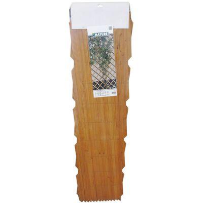 Nature Treliça de jardim 100x300 cm madeira castanho