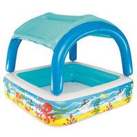 Bestway Piscina de brincar com toldo azul 140x140x114 cm