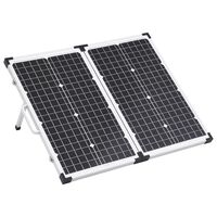vidaXL Mala com painel solar dobrável 60 W 12 V