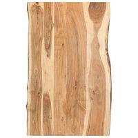 vidaXL Tampo de mesa 100x60x3,8 cm madeira de acácia maciça