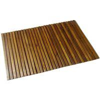 Tapetes para casa de banho, madeira de acácia, 80 x 50 cm
