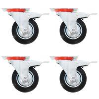 vidaXL 16 pcs rodas giratórias 100 mm